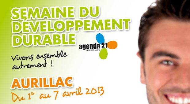Affiche de la semaine du développement durable à Aurillac